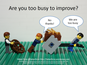 Are you too busy to improve?