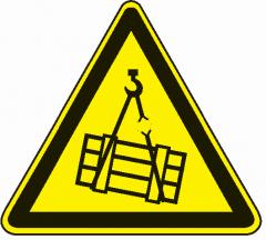 Achtung Bewegliche-Teile die fallen