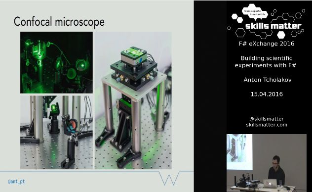Building scientific experiments with F# SkillsCast 15th April 2016 - Confocal Microscope